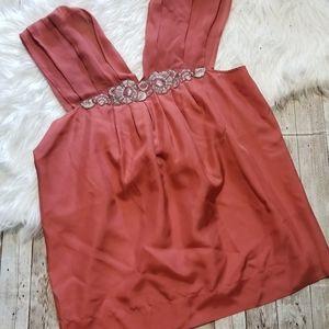 BCBG MAXAZRIA sleeveless silk blouse